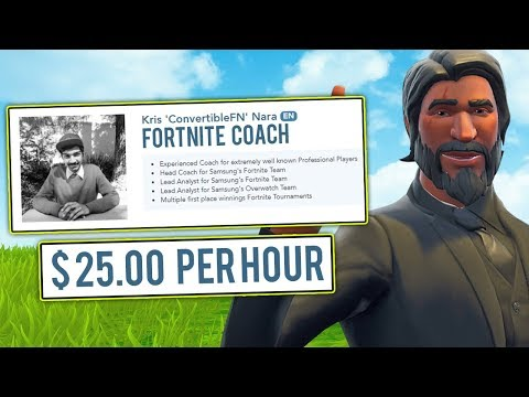 I HIRED A PROFESSIONAL FORTNITE COACH TO TRAIN ME AND TROLLED HIM