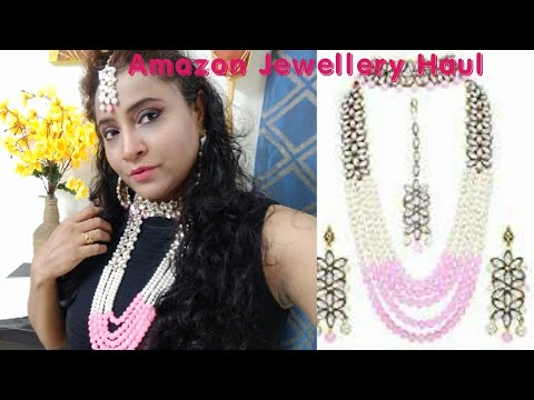 amazon-jewellery-haul-,-3,153/--peora-18k-gold-plated-pink-pearl's-and-kundan-set-just-for-559/-