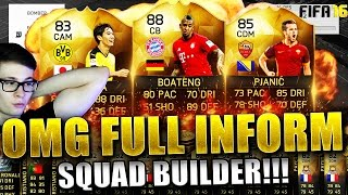 FIFA 16: FULL INFORM SQUAD BUILDER (DEUTSCH) - FIFA 16 ULTIMATE TEAM - FT BOATENG IF & CO!!!