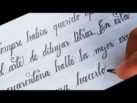 ✔ Como Escribir Caligrafía 🅲🆄🆁🆂🅸🆅🅰 Bonita En Español I Pablo Bermúdez