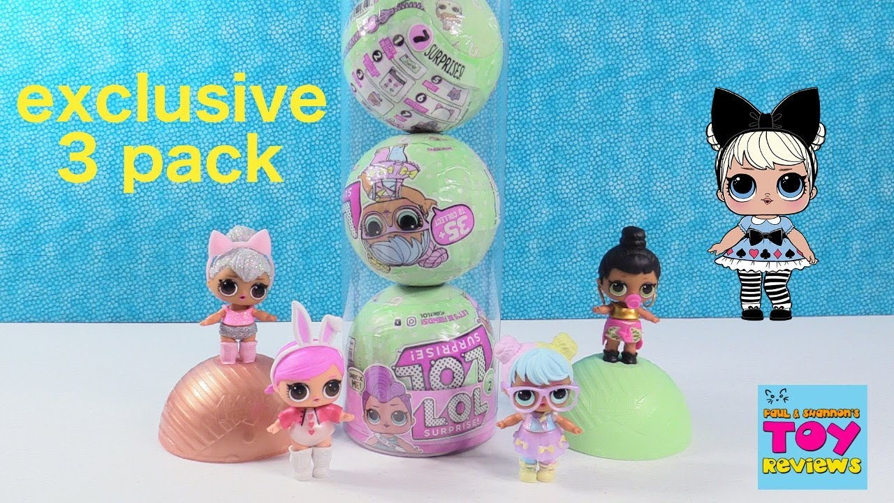 Lol Surprise Special Edition 3 Pack Series 2 Tots Lil Sisters Toy Review Pstoyreviews Youtube
