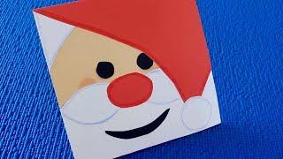 Как сделать открытку на Новый Год своими руками.Handmade Christmas Greeting Cards for Kids