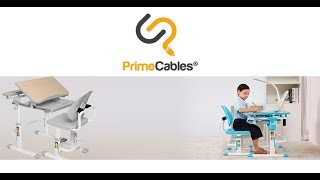 PrimeCables® Children's Multi-Functional Ergonomic Height Adjustable Desk & Chair Set - Grey