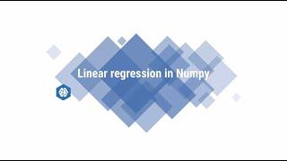 Linear regression in numpy