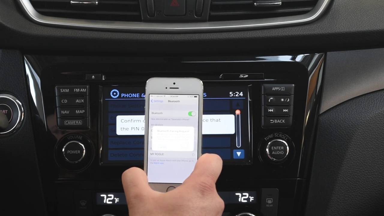 Bluetooth Phone Pairing 2016 Nissan Tutorial