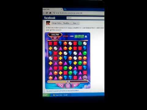 My one million point score on FB bejeweled blitz!