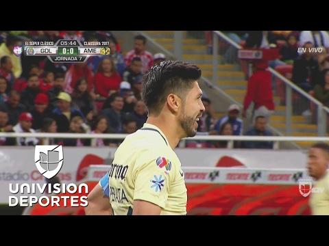 Cerca Oribe Peralta de marcar el 1-0 con este contragolpe