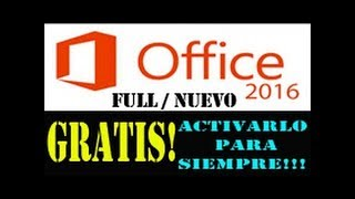 Como Activar Office 2016 [PASO A PASO] sin Programas y con Programa 32bits Y 64bits Facil y Rapido
