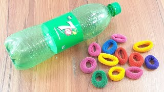 plastic bottle & rubber band craft idea  | best out of waste | beautiful wall hanging