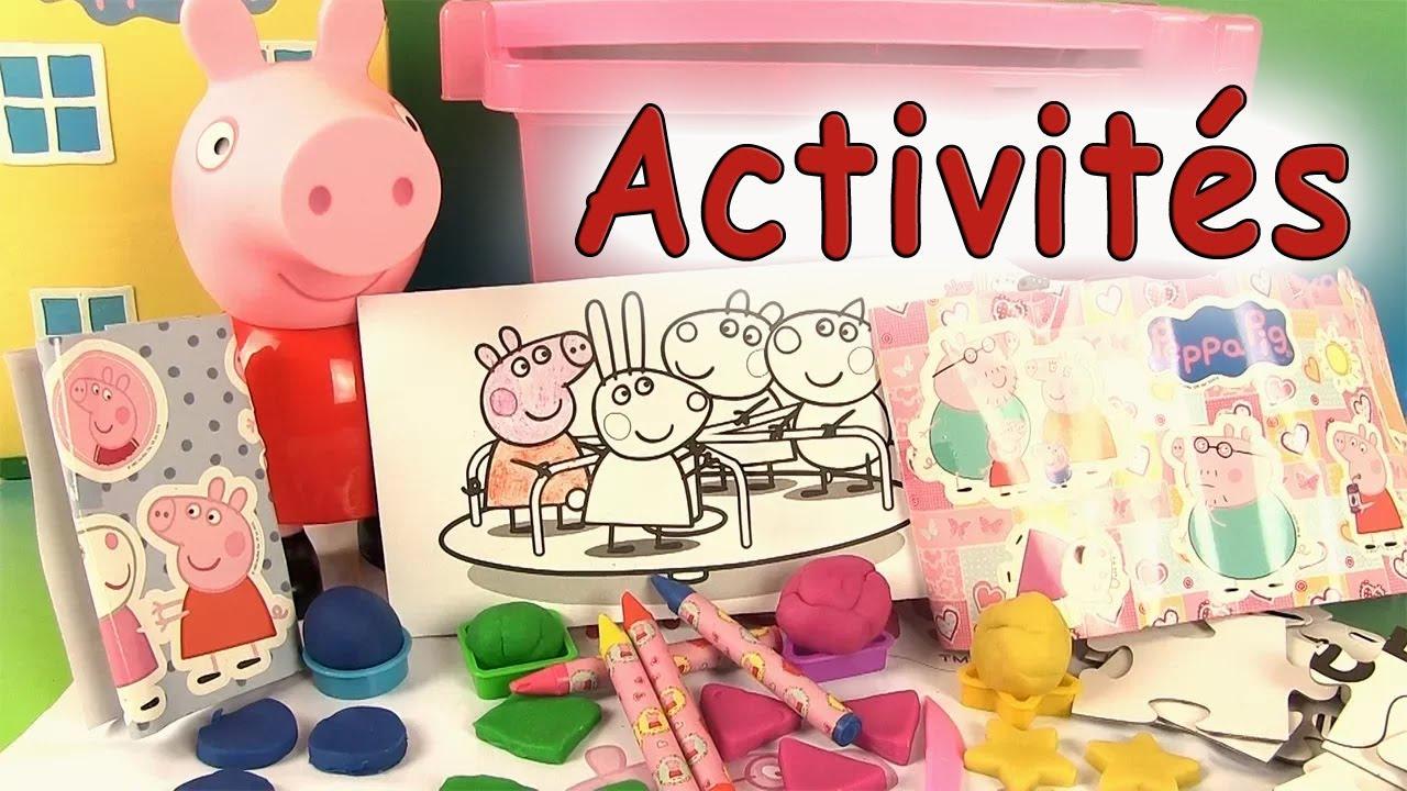 Peppa Pig Activités Enfants P¢te  Modeler Coloriage Puzzle