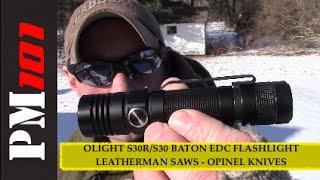 OLIGHT S30R/S30 Baton BONUS: Surge Saw Blades + Opinel Knives  - Preparedmind101