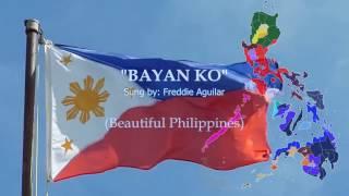 """""""Bayan Ko"""" Sung by Freddie Aguilar w/ Lyrics (Beautiful Philippines)"""