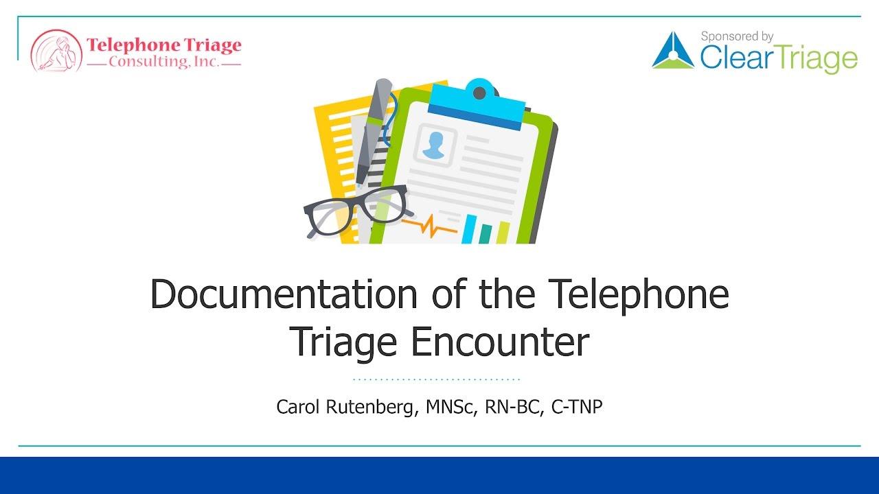 documenting nurse telephone triage calls