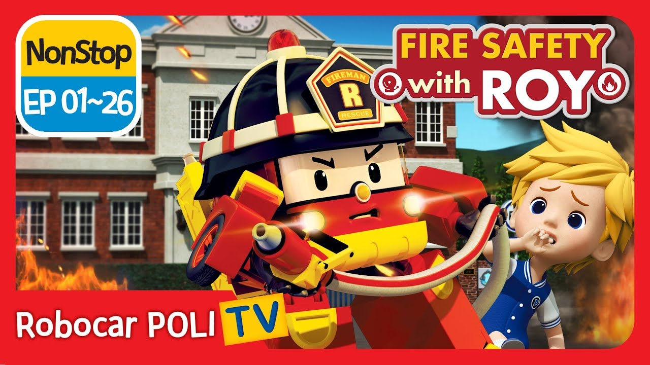 🔥fire safety with roy ep robocar poli kids animation