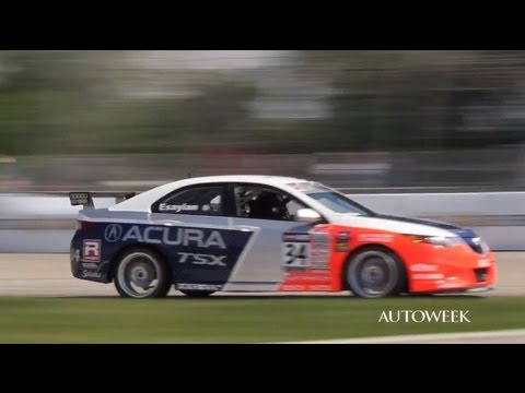 Differences between a race car and a street car - Acura TSX on the track