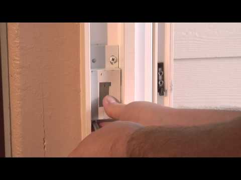 How to Adjust a Patio Door Strike
