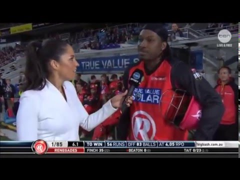 Chris Gayle interview with Mel McLaughlin | BBL