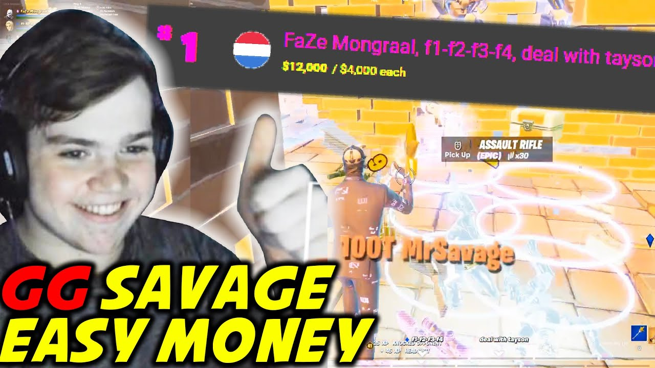 Mongraal Puts Mrsavage & Letshe in The Montage (INSANE 1V2) Then EASLY WIN FNCS Day 2