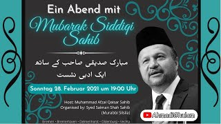 LIVE - Mushaira Evening with Mubarik Siddiqi Sb - 28. Feb 7:00pm (German Time) - Set reminder