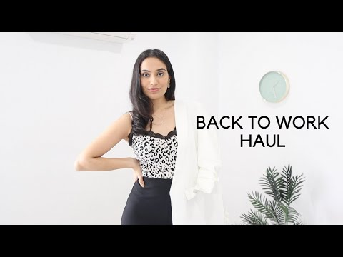 BACK TO WORK OUTFIT IDEAS | STYLING | HAUL | ZARA, H&M & KMART | CORPORATE | WHAT I WEAR | BySanjna