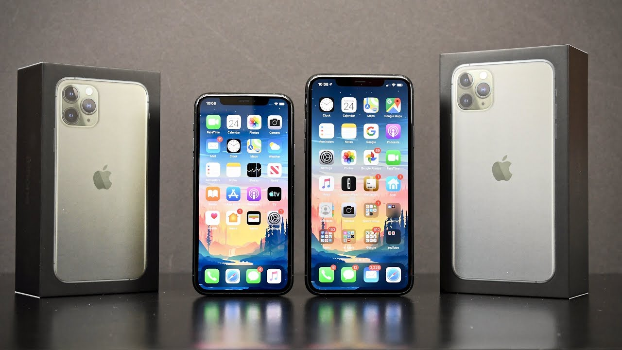Apple Iphone 11 Pro Vs 11 Pro Max Unboxing Review