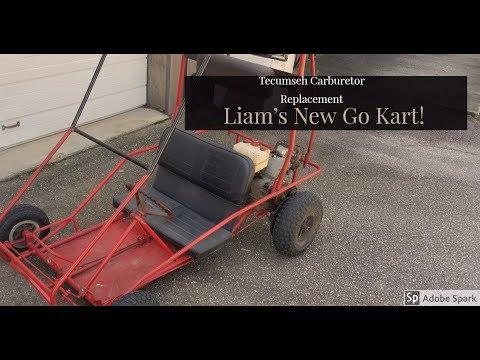 Changing the Carburetor on Liam's New Go Kart Tecumseh engine