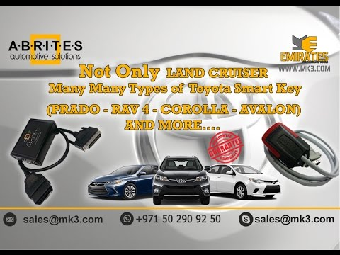 TOYOTA EUROPE 2015-2016 SMART KEY LEARNING ALL KEYS LOST BY AVDI ABRITES TN006,ZN039