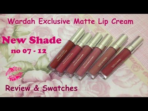 wardah-exclusive-matte-lipcream-new-shade-review-&-swatchess -regina-putri
