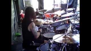 "Jason Bittner & SHADOWS FALL ""The Light That Blinds"" MAYHEM FEST 2010 Albuquerque, NM"