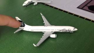 Gemini Jets Alaska Airlines 737-700 and 737-800