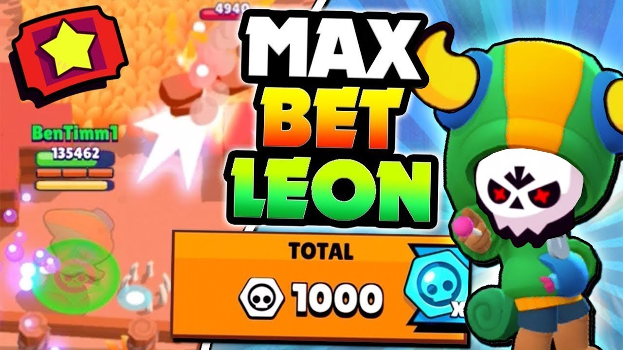 LEGENDARY LEON MAX TICKET BETS IN BIG GAME! | Brawl Stars | 1000 BRAWL BOX TOKENS IN ONE GAME!