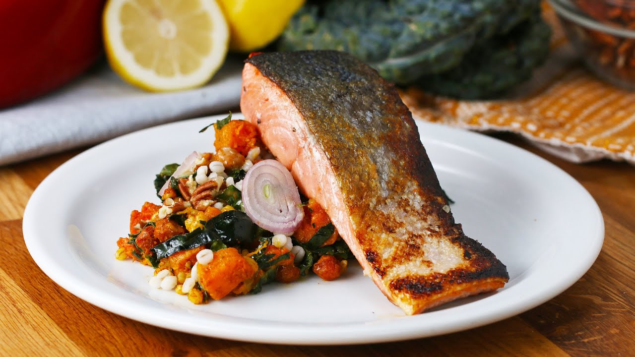 maxresdefault - Seared Salmon with Smoky Squash Salad