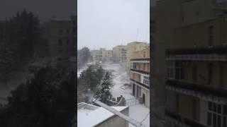 Fiocchi di neve su Gravina