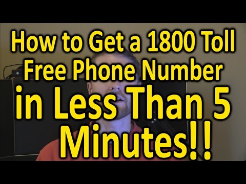 How To Get A 1800 Toll Free Phone Number In Less Than 5 Minutes