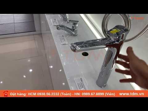 TDM.VN   Review Vòi Lavabo Nóng Lạnh INAX LFV-1402SH Vòi Chậu Rửa Mặt Cổ Cao