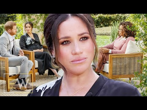 Touched Meghan Markle sits in silence in clips from tell-all Oprah interview | ET Weekly