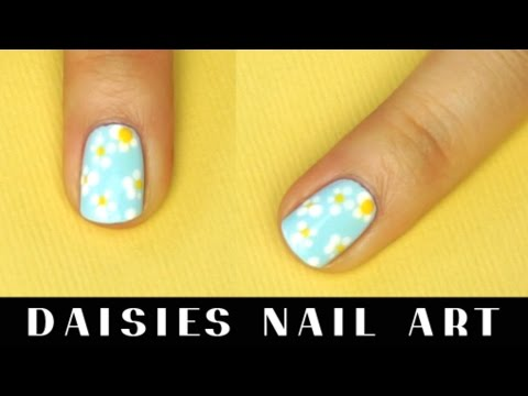 Daisy flowers nail art tutorial I Futilities And More