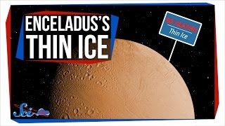 Enceladus's Super-Thin Ice