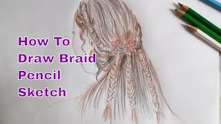 How To Draw Hair | Cute Hairstyle Drawing Video, Easy Step By Step Tutorial
