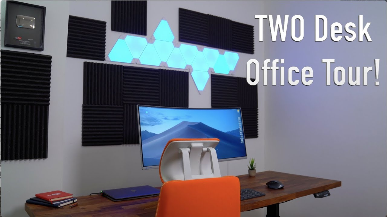 My Ultimate Office Setup Tour Two Desks Youtube
