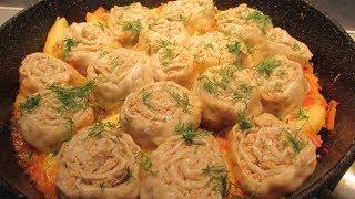 Штрудели с мясом и картошкой ☆  Вкусное блюдо на обед