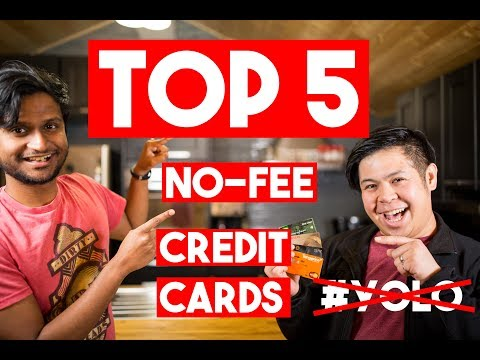 Top 5 No-Fee Credit Cards 2018 (Canada)