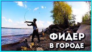 Рыбалка в городской черте.Фидер в селе Пристанное.