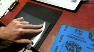 Wet dry sandpaper convex blade polishing