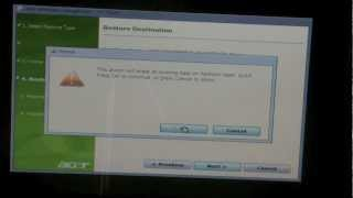 Restore Acer 7741G laptop back to factory settings