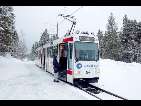 Trams in Trondheim, Norway - The Most Northern Tram Line in the World