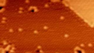 Atoms moving on a silicon surface: STM movie