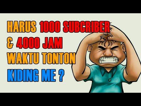 Peraturan Baru Monetisasi Channel YouTube 2018: HARUS 1000 SUBSCRIBER dan 4000 JAM TAYANG Baru Bisa Monetisasi