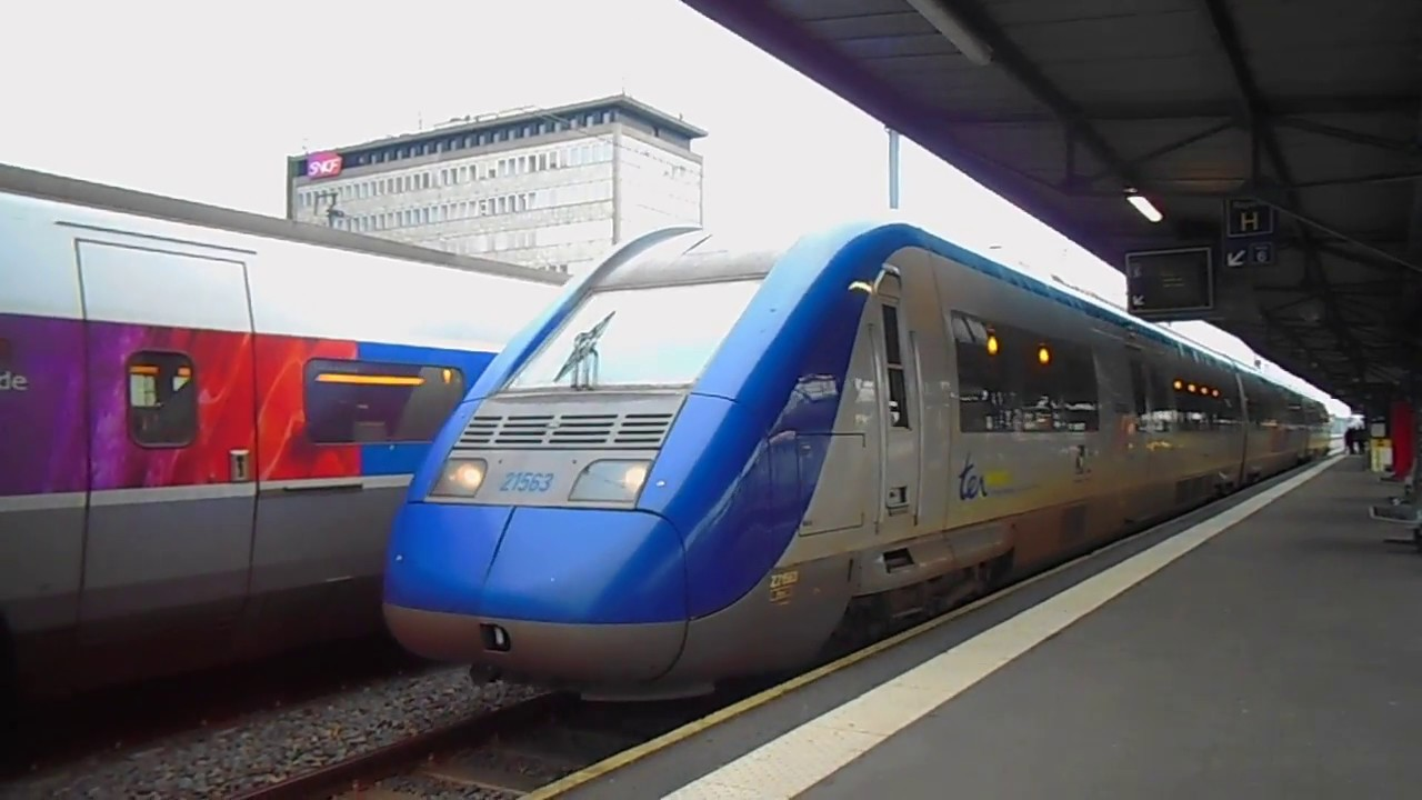 Nantes Quimper départ d'un ter nantes-quimper en z 21500 - youtube