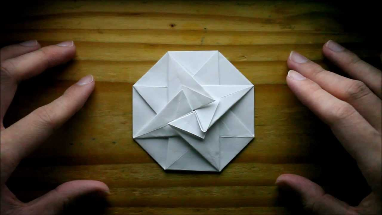 origami octagonal pouch youtube